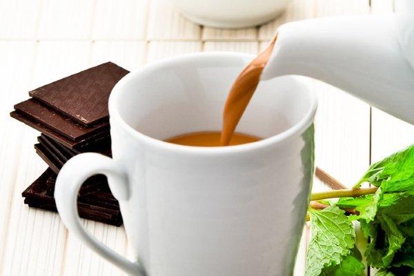 Чай с мятой и шоколадом