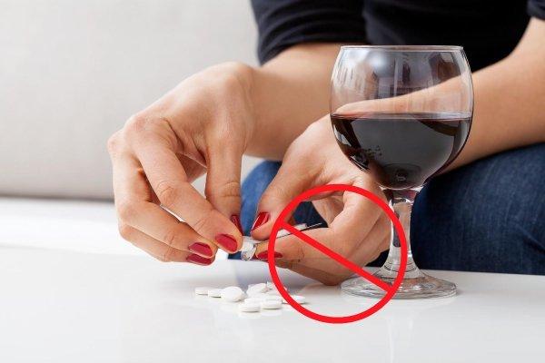 Запрет на смешивание с алкоголем