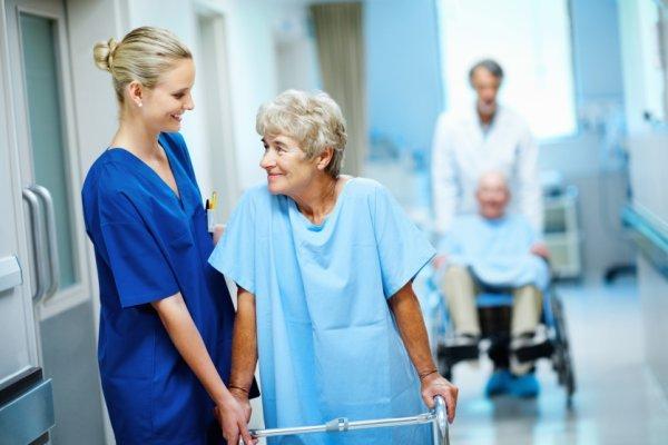 В больнице на восстановлении