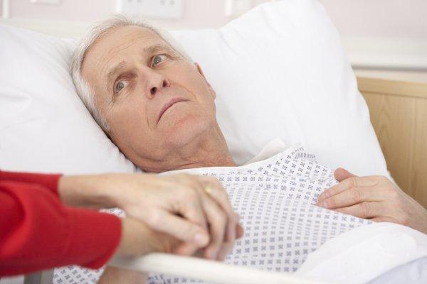 Больной после инсульта
