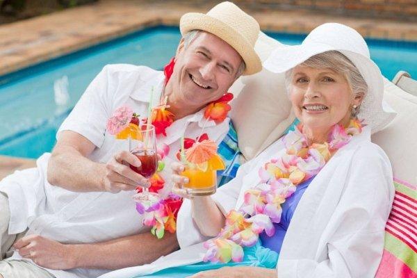 Пожилые на отдыхе