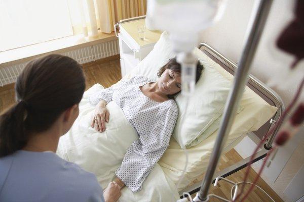 Пациентка в больнице